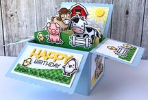 Cards farm stamp set