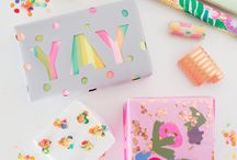 Gift wrapping / Gift wrapping inspiration, including wrapping paper ideas, ribbons and gift tags.