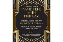 1920's Theme Party Invitations