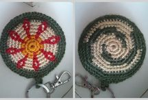 Tapestry crochet- key ring , of my works.