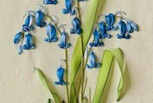 flores bordadas en cinta