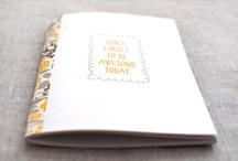 notebooks / sketchbooks / journals / field notes