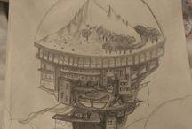 Mon carnet à dessins / Mes petites oeuvres