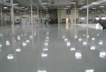 Polymer Flooring / This board shows examples of polymer flooring.