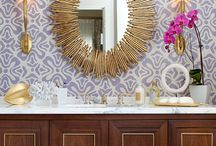 Powder Room Perfection / Small spaces with big style. Powder room inspiration that we love.