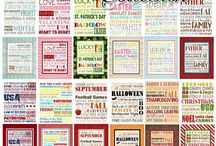 Subway Art / Those fun quote word collage things with lots of different fonts and colors. You know. / by Amy Rasmuson