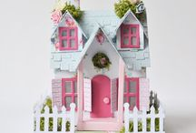 Tim Holtz Houses ~ Village Dwellings / I have always loved Putz houses & mini things - I love ALL these dies. . .