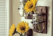 Mason jar hangings
