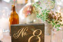 Drevené dekorácie / Nástenka drevených dekorácií aj pre Vašu svadbu :)