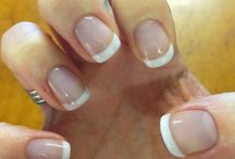 CND Shellac - French Manicure / Although the differences seem subtle, the finish of your French Manicure alters depending on the colours you select.  Here are a range of the best finishes when using CND Shellac.