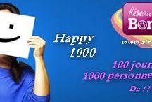 Happy1000 - 100 jours pour réunir 1000 personnes dans le Bonheur / Des photos, des images liées au bonheur chaque jour durant 100 jours pour relever le défi ensuite de réunir 1000 personnes dans le bonheur à la fin des 100 jours !