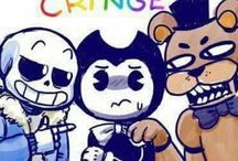 Fnaf,undertale,Bendy and the ink machine...ONE LOVE