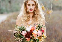 Autumn wedding and love-love-love