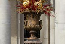 Ornament Arrangement For Outdoor Urns