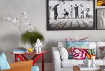 """Living """"Sala de Estar"""" / Cálido lugar para reunirse con la Familia"""