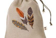 Textil feathers