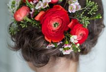 Coiffure floral