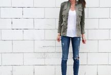 skinnies t shirts and flats ( jacket/ cardigan)