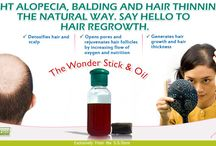 Hair re-growth the natural way / Fight alopecia, balding and hair thinning... Get profuse hair growth naturally.