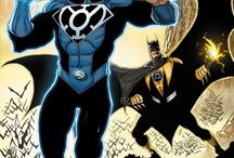 Superman/batman as Lanterns / Awesomeness in a picture