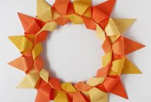 ORIGAMI wreath, rings... / FLAT origami wreaths and rings