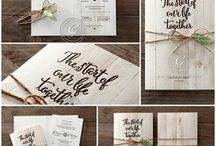 Rustic invitations / Announce your love with these invitations that are ideal for the chic garden wedding of your dreams