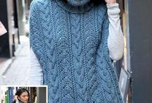 Knitted Ponchos