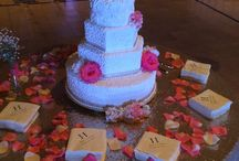 Wedding Cake / Cakes at weddings we catered. We didn't make these cakes, but we can refer you to great local wedding bakers.