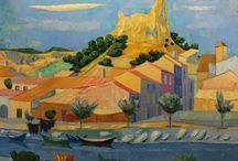 Gérard Calvet - Artiste peintre francais - French painter ( 1926 - 2017 ) / Né le 3 août 1926 à Conilhac Corbières (Aude), après ses études au Lycée de Carcassonne, il entre aux Beaux-Arts de Paris, en 1945 jusqu'en 1950, comme élève titulaire dans l'atelier d'Eugène Narbonne. Première exposition à Paris en compagnie du sculpteur Georges Oudot. Peint au quartier latin à Paris jusqu'en 1951, puis se fixe en 1952 à Montpellier, où il s'est eteint le lundi 6 Mars 2017.
