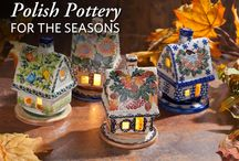 Polish Pottery / Beautiful and unique artisan made Polish pottery. The unique  stoneware pieces of exquisite hand-painted designs make them as beautiful as they are functional.