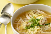 egg drop soup with chiken and noodles / by Vivienne Furlong