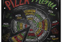 Pizza menü katalog