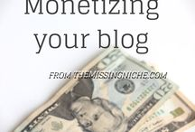 blogging : monetization / Here, you'll find help with affiliate marketing, blog sponsorships, and other topics related to monetizing your blog. Another great way to monetize your blog is through the creation of information products like ebooks and courses; be sure to check out my board called blogging : info products. / by Sandee Jackson