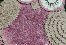 Háčkované koberečky