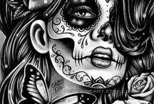 tattoo santa muerte mexican