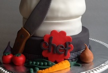 chef themed cake