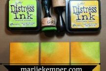 Distress inks and blends