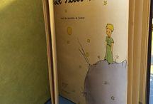 Reliure / Le Petit Prince réalisé en reliure japonaise, couverture en tissus
