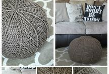 crochet and knit,  home decorations