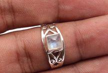 Gemstone Indian Rings