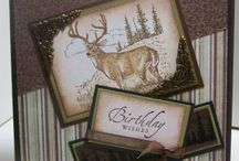 Noble Deer-Retired / Made using Stampin' Up! Noble Deer (retired) stamp set.  This set makes lovely masculine cards!