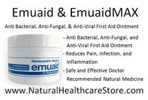 Emuaid / EMUAID® is a homeopathic topical treatment engineered with natural healing ingredients and rare growth factor stimulators that work synergistically to immediately soothe irritation, dramatically reduce inflammation, treat a variety of disorders and heal damaged and resistant skin conditions.  The natural ingredients in EMUAID® assist the body in activating its self-healing powers to safely fight the most powerful bacterial, fungal and viral skin conditions.