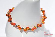 Swarovski Bicone Bracelets / Seria bransoletek wykonanych z kryształków SWAROVSKIEGO - BICONE i japońskich, szklanych koralików MIYUKI, z przekładkowym zapięciem.