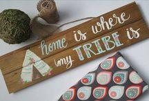 brush lettered signs
