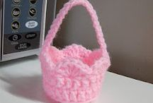 Crochet baskets, bags and containers