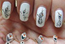 christmas cartoon nails