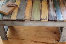 Reciclado / Aprovechar lo que otros desechan , logrando espacios y detalles armonicos.