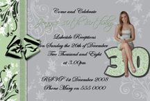 Adult Birthday Invitations / any age adult 18th 21st 30th 40th 50th 60th birthday invitations