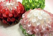 Kanzashi,kwiaty ze wstążki