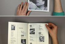 magazines, layouts ✏